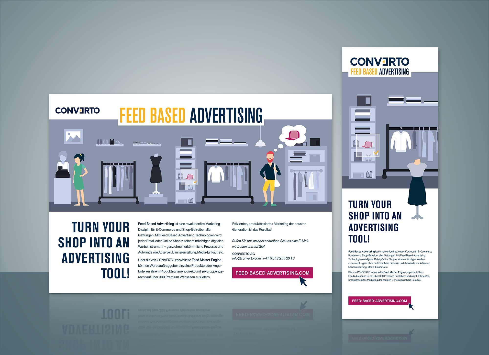 Printanzeigen Feed Based Advertising Converto
