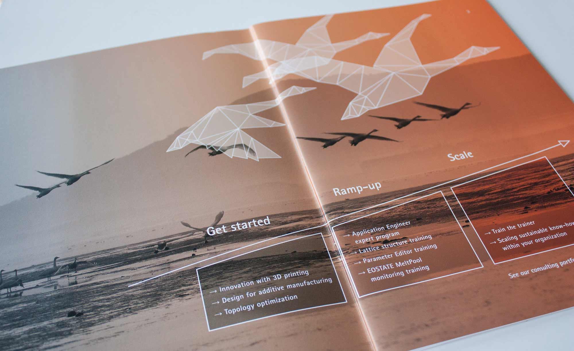 Innenteil Katalog Trainingsprogramme mit Hintergrundbild und Grafik