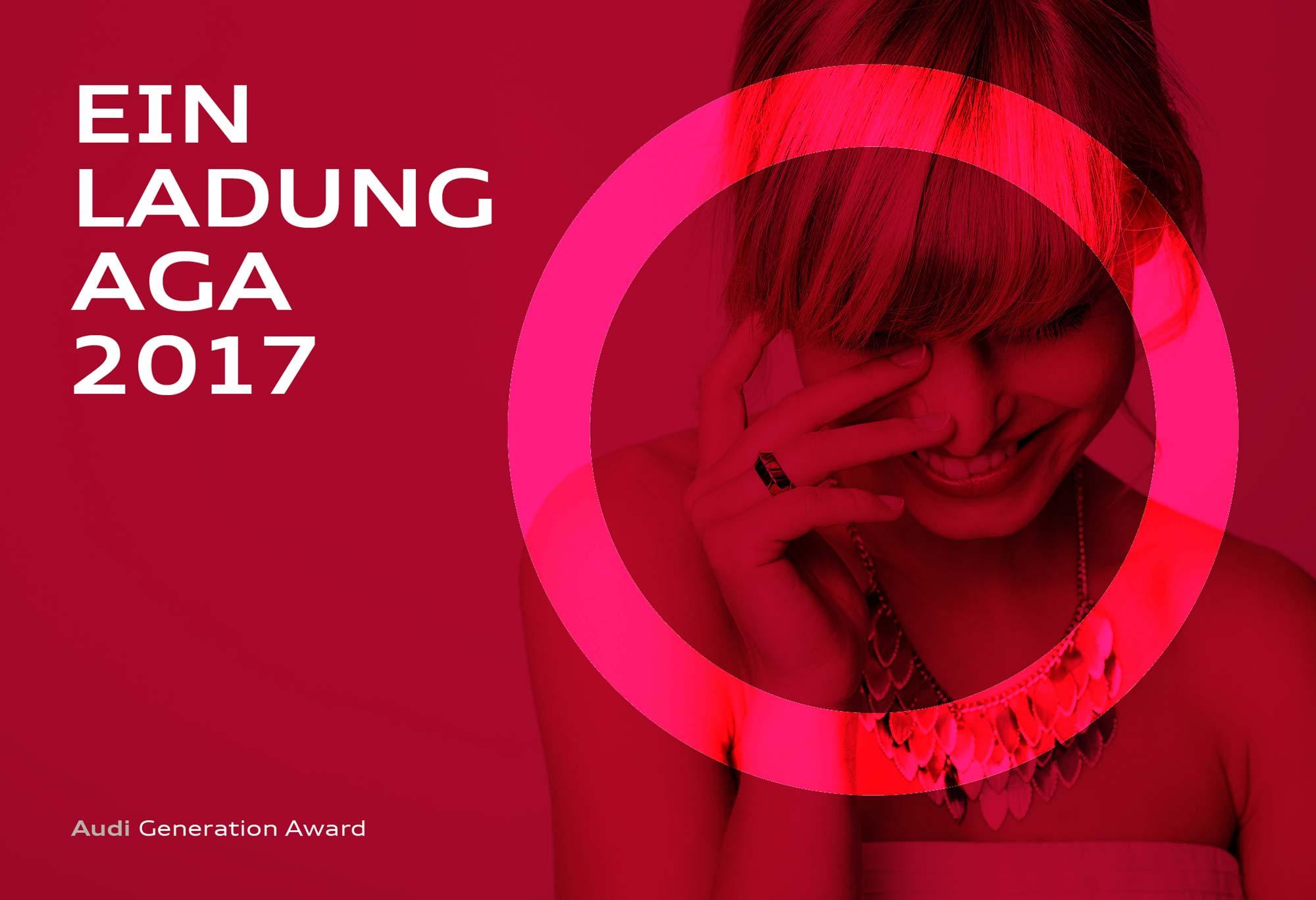 Designvorschlag einer Einladung für den Audi Generation Award