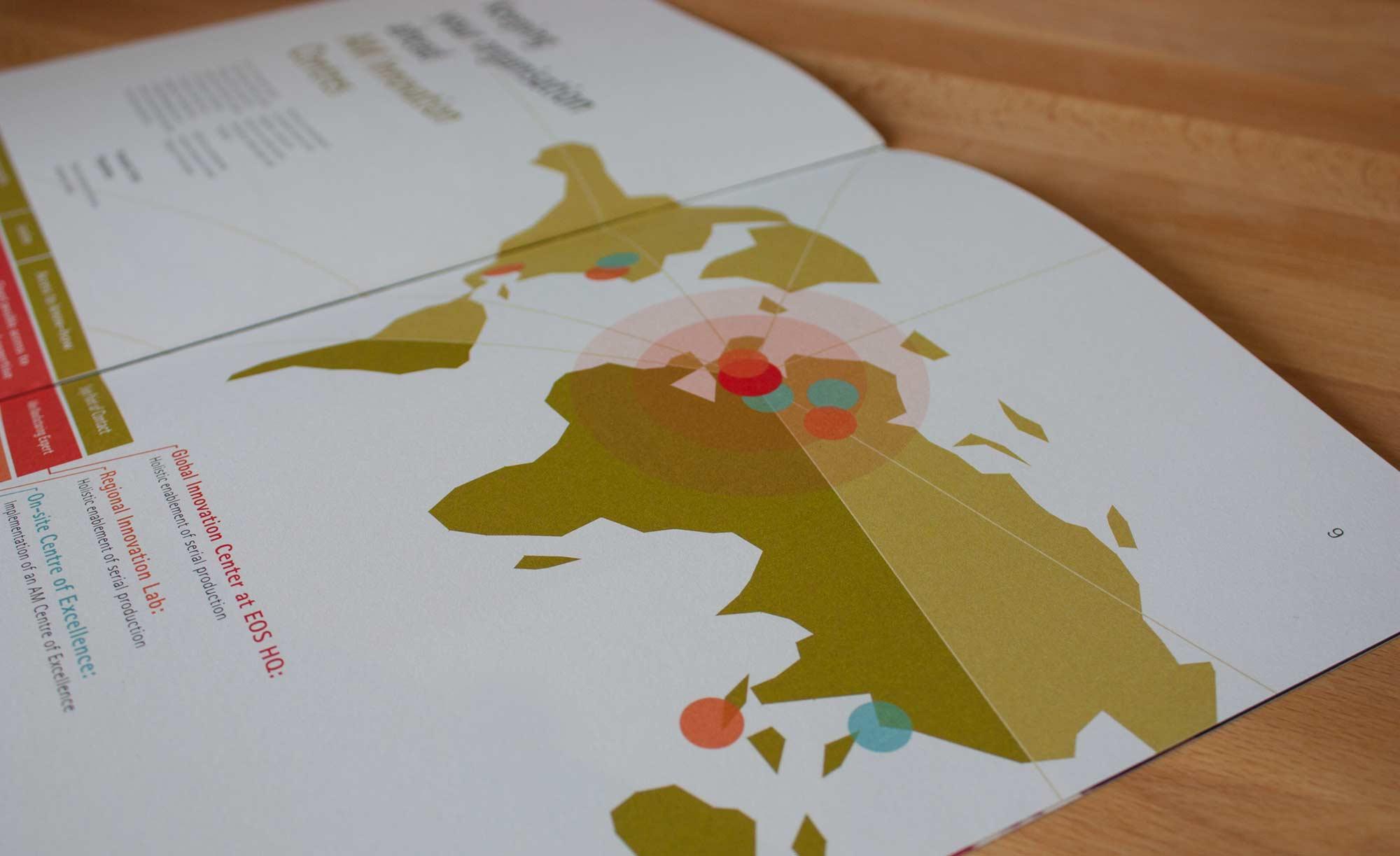 Vektorgrafik Weltkarte mit diversen Standorten