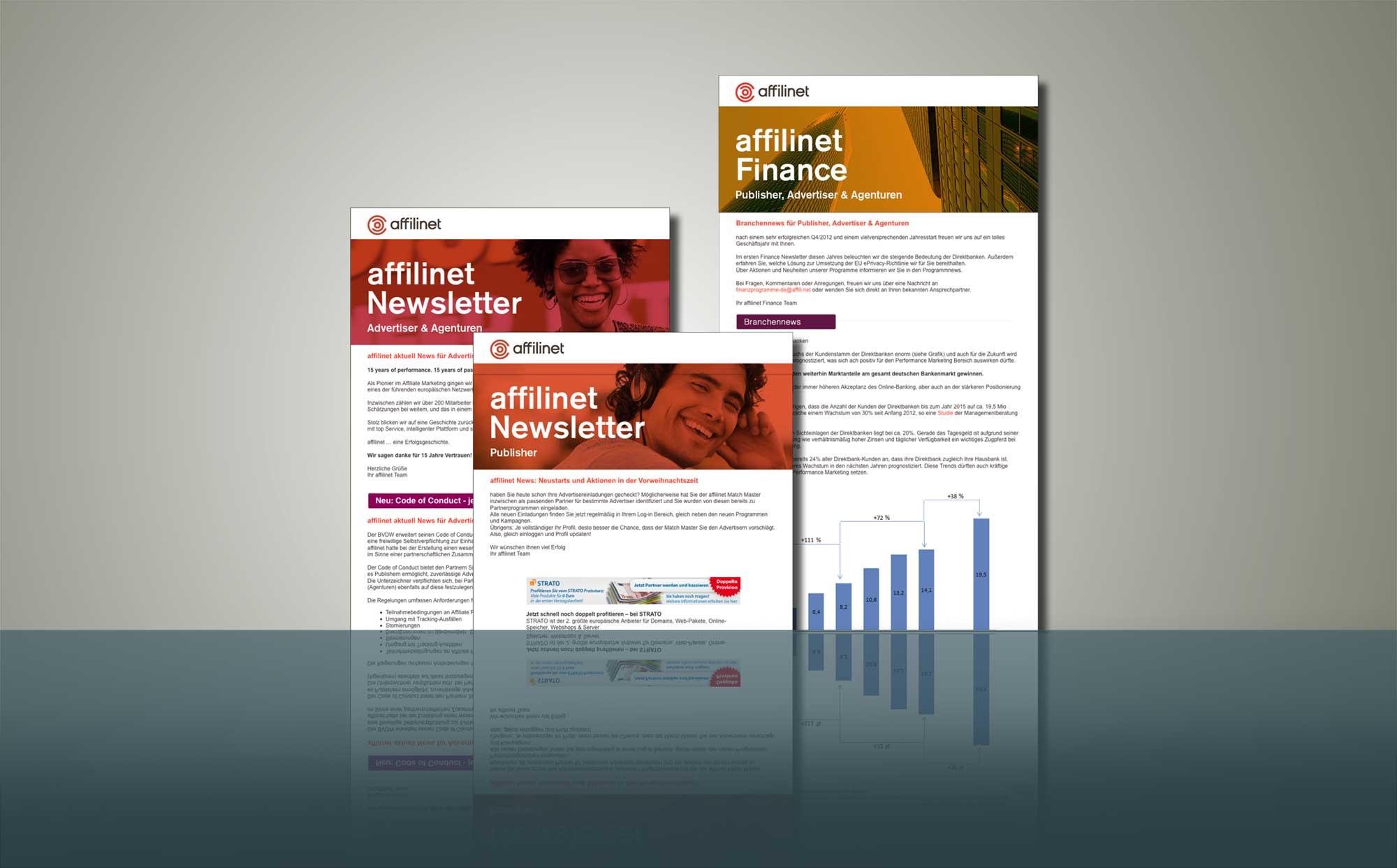 Designbeispiele Newsletter affilinet