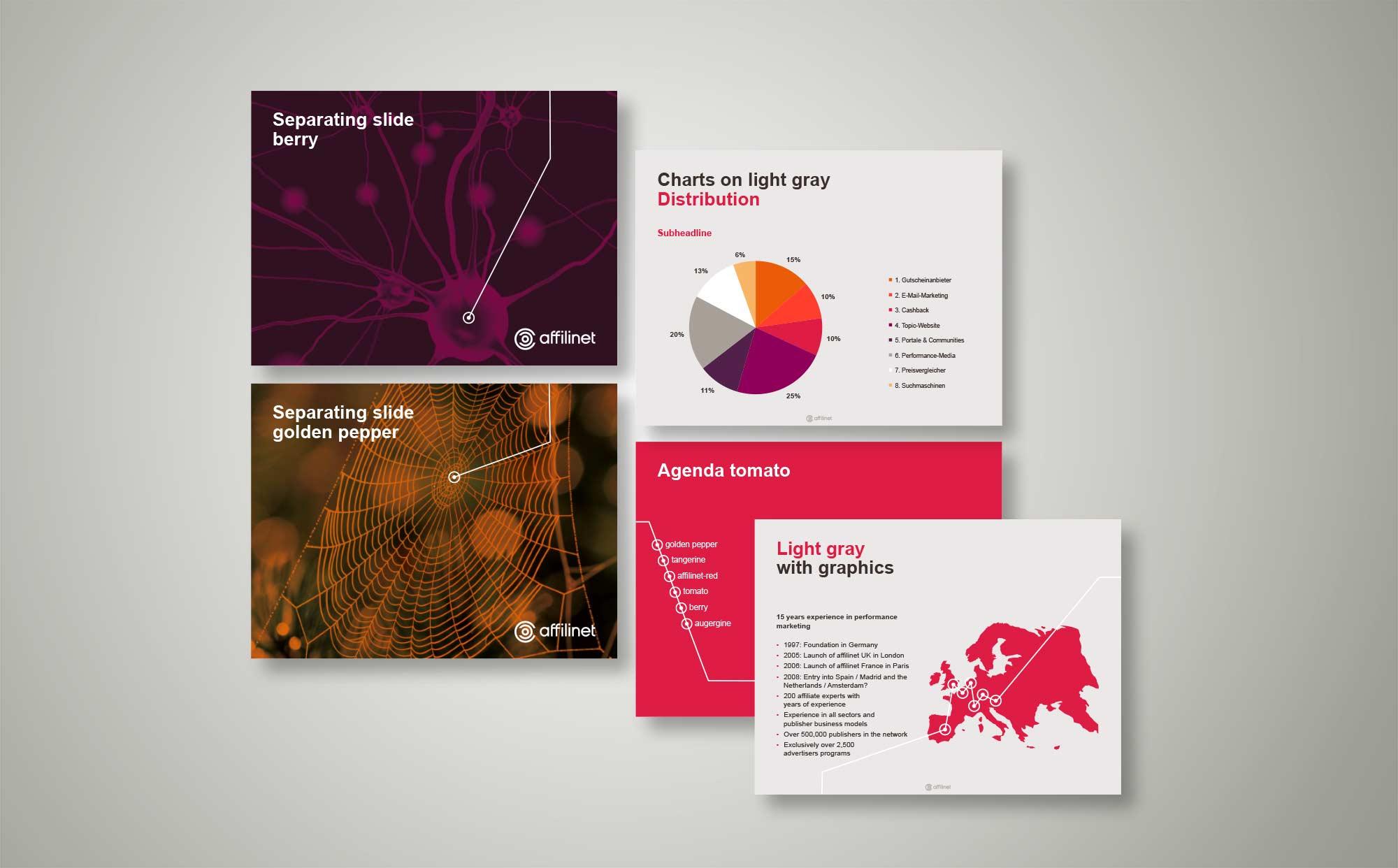 Beispiele für PPT-Folien im neuen Corporate Design