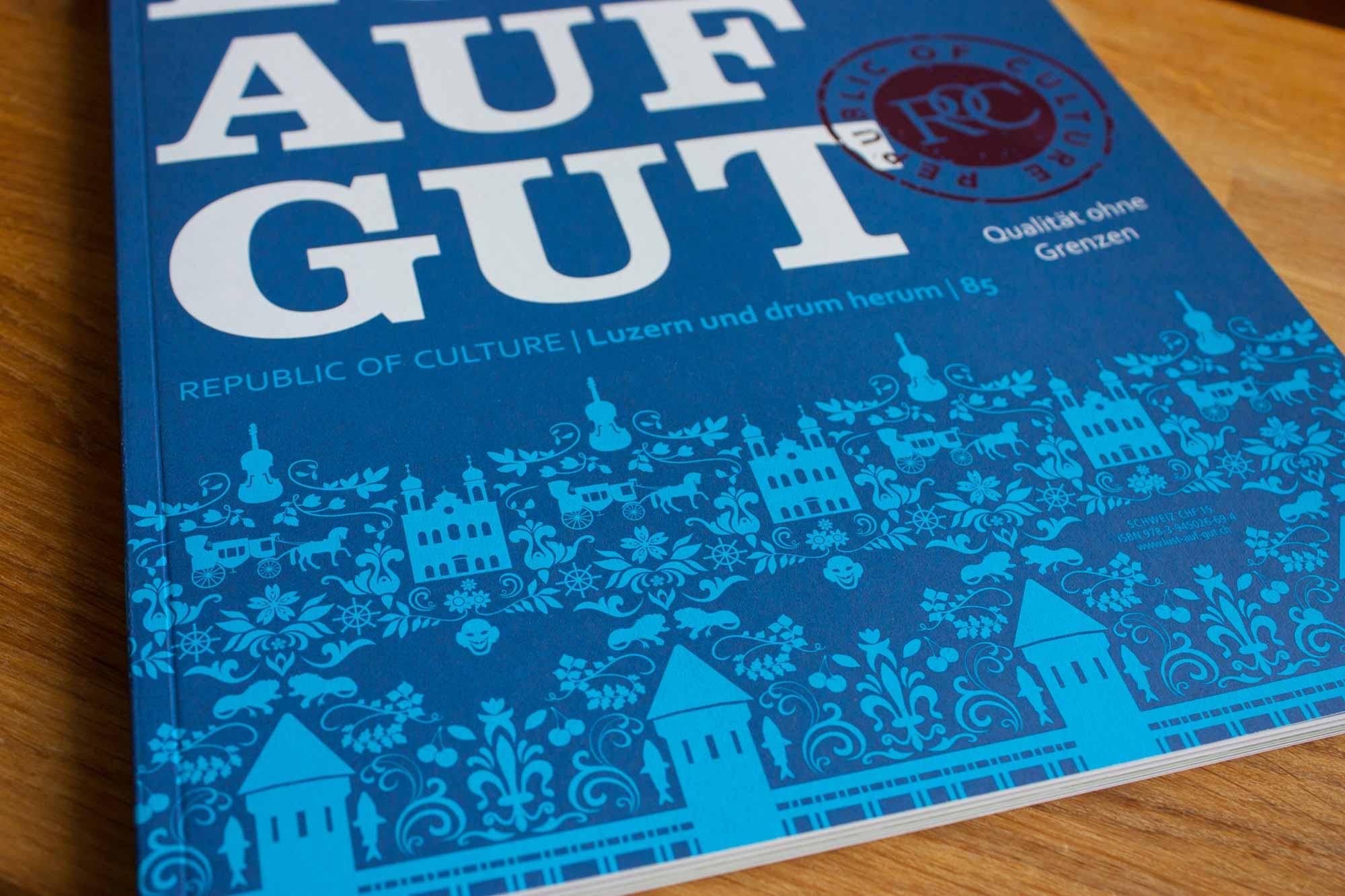 "Vektorgrafik Coverdesign ""Lust auf Gut"""