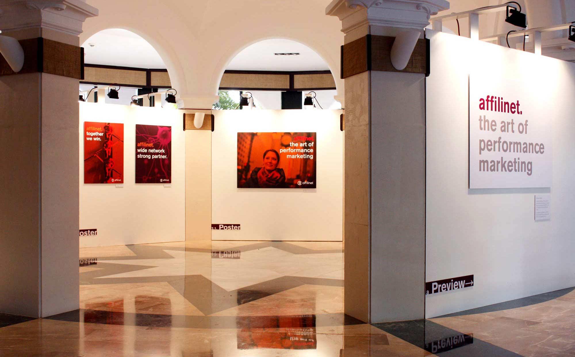 Ausstellung zur Präsentation des neuen Corporate Design von affilinet