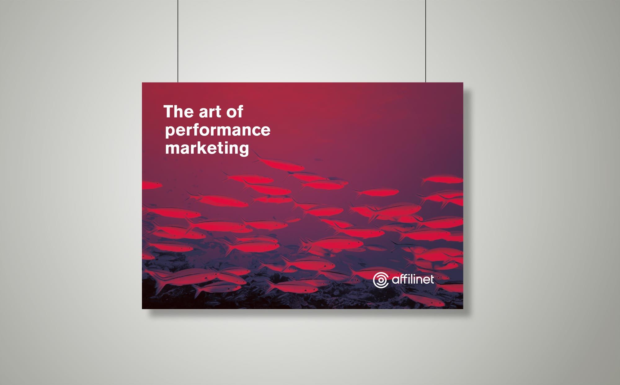 """Poster """"The art of performance marketing"""""""