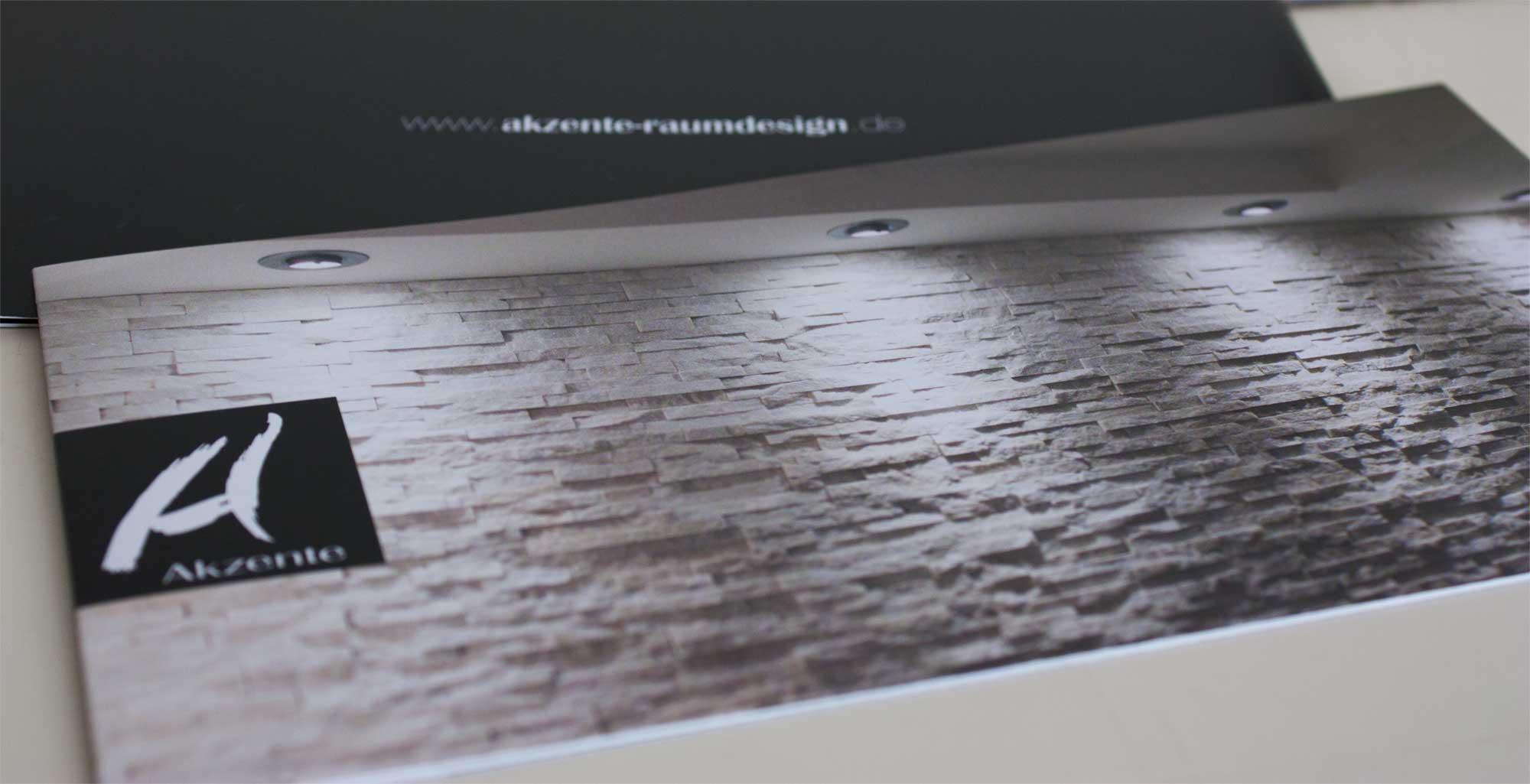 Werbefaltblatt Akzente Raumdesign