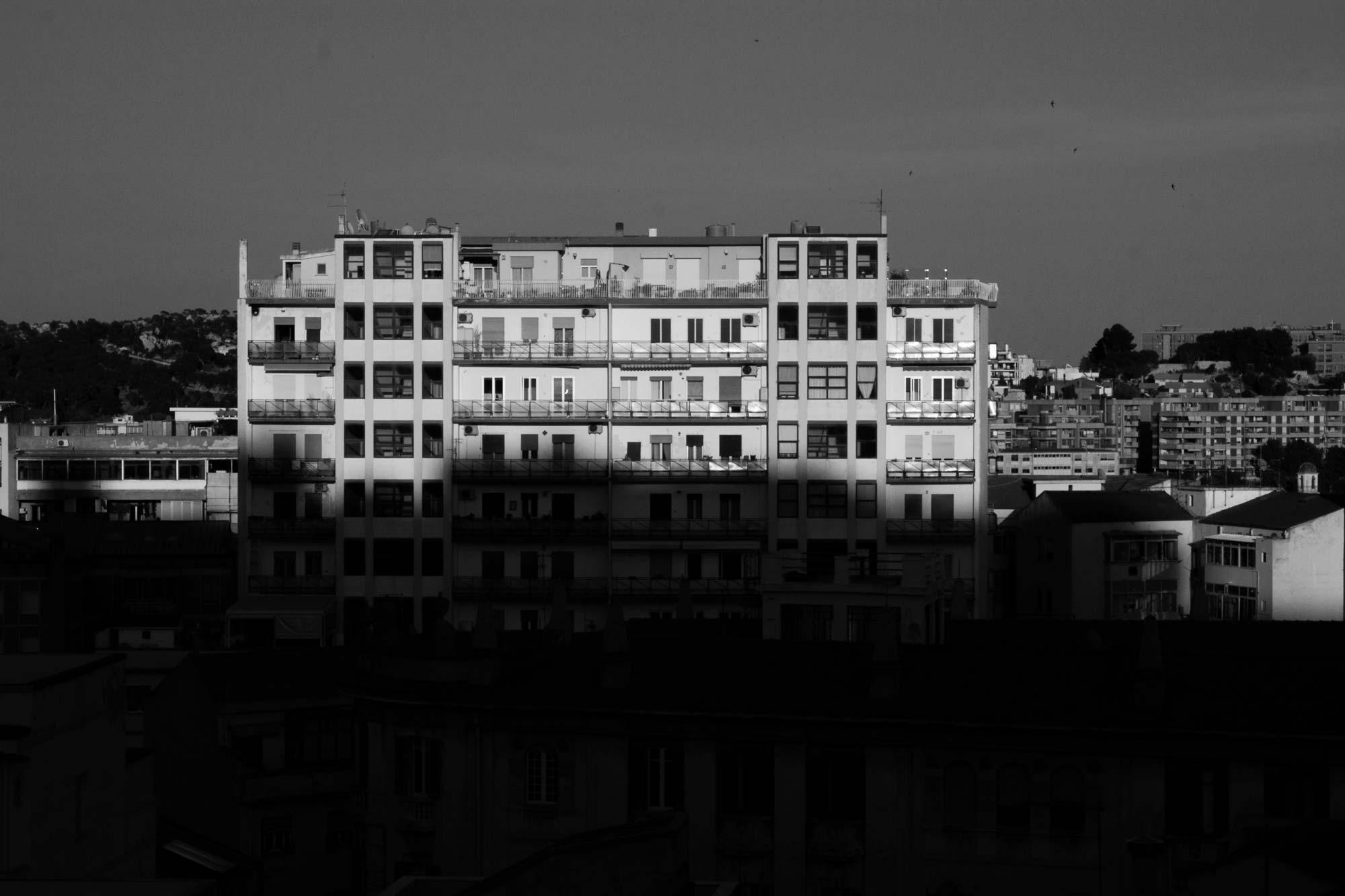 Palazzo in der Abendsonne, Cagliari, Sardinien
