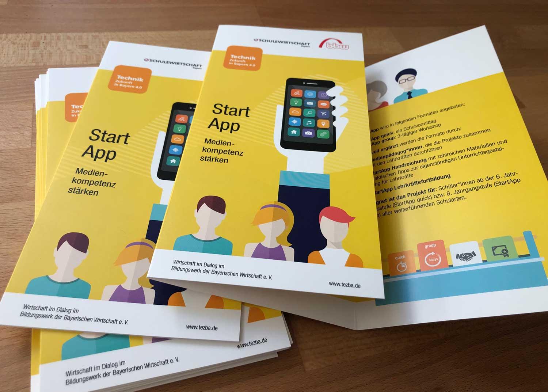 "Faltblatt 6-Seiter ""Start-App"""