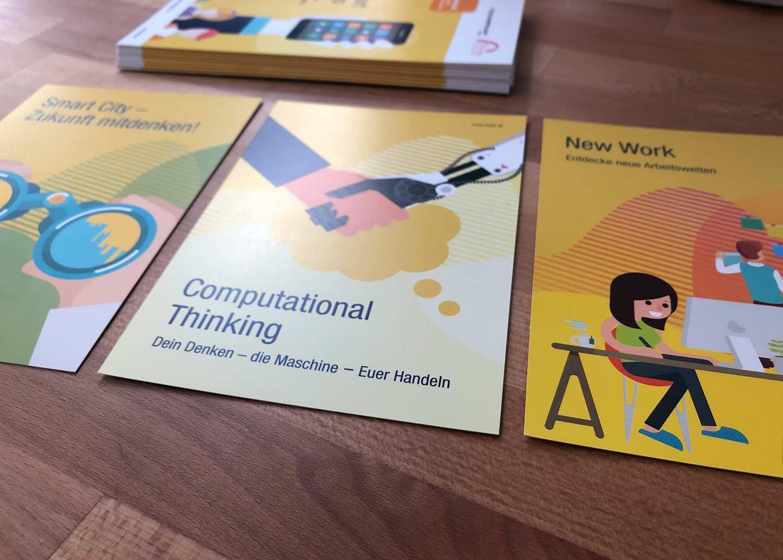 3er Postkartenserie fuer digitale Bildungsformate